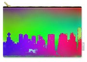 Psychedelic Vancouver Skyline Triptych Centre Carry-all Pouch