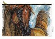 Psychodelic Chestnut Horse Original Painting 2 Carry-all Pouch