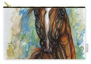 Psychodelic Chestnut Horse Original Painting Carry-all Pouch