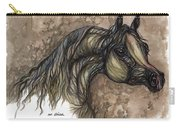 Psychodelic Grey Horse Original Painting Carry-all Pouch