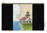 Pt Cabrillo Lighthouse Ca Nautical Chart Map Art Cathy Peek Carry-all Pouch