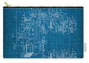 Pt Farnsworth Television Patent Blueprint 1930 Carry-all Pouch