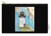 Pt Montara Lighthouse Ca Nautical Chart Map Art Cathy Peek Carry-all Pouch