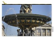 Public Fountain At The Place De La Concorde In Paris France Carry-all Pouch