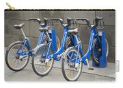 Public Shared Bicycles In Melbourne Australia Carry-all Pouch