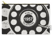 Public Telephone 1957 In Black And White Retro Carry-all Pouch