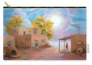 Pueblo De Las Lunas Carry-all Pouch by Jerry McElroy
