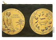 Pueblo Of Acoma Tribe Code Talkers Bronze Medal Art Carry-all Pouch