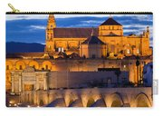 Puente Romano And Mezquita At Twilight In Cordoba Carry-all Pouch
