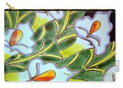 Calla Lillies Splashed Carry-all Pouch