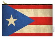 Puerto Rico Flag Vintage Distressed Finish Carry-all Pouch by Design Turnpike