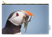 Puffin With Sandeels Portrait Carry-all Pouch