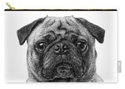 Pug Dog Black And White Carry-all Pouch