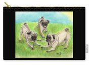 Pug Dog Playing Canine Animal Pets Art Carry-all Pouch