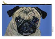 Pug On Blue Carry-all Pouch