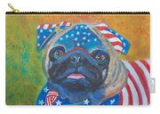 Pug - Patriotic Dog Carry-all Pouch