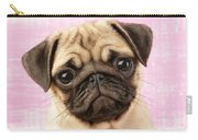 Pug Portrait Carry-all Pouch by Greg Cuddiford