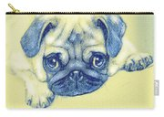 Pug Puppy Pastel Sketch Carry-all Pouch