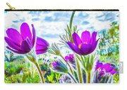 Pulsatilla Vulgaris Flowers Carry-all Pouch