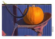 Pumpkin On Tractor Seat Carry-all Pouch