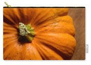 Pumpkin On Wooden Background Carry-all Pouch