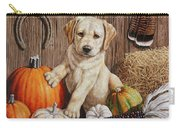 Pumpkin Puppy Carry-all Pouch by Crista Forest
