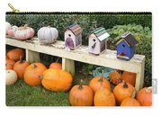 Pumpkins And Birdhouses Carry-all Pouch