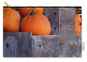 Pumpkins On The Wagon Carry-all Pouch by Kerri Mortenson