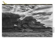Punakaiki Truman Track #2 - Black And White Carry-all Pouch