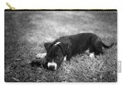 Puppy Eyes In Black And White Carry-all Pouch