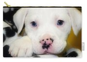 Puppy Pose With 4 Spots On Nose Carry-all Pouch