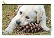 Puppy With Pine Cone Carry-all Pouch