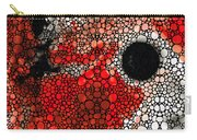 Pure Passion 2 - Stone Rock'd Red And Black Art Painting Carry-all Pouch by Sharon Cummings