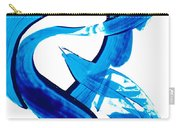 Pure Water 302 - Blue Abstract Art By Sharon Cummings Carry-all Pouch
