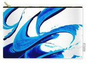 Pure Water 314 - Blue Abstract Art By Sharon Cummings Carry-all Pouch