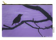 Purple - Bird - Silhouette Carry-all Pouch