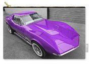 Purple 1968 Corvette C3 From Above Carry-all Pouch