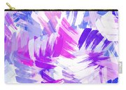 Purple Abstract Paint Pattern Carry-all Pouch