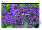 Purple Allium Flower Carry-all Pouch