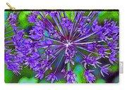 Purple Allium Flower Carry-all Pouch
