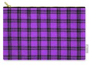 Purple And Black Plaid Textile Background Carry-all Pouch