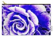 Purple And Blue Rose Expressive Brushstrokes Carry-all Pouch