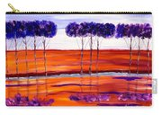 Purple And Blue Trees Abstract Carry-all Pouch