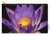 Purple And Bright Yellow Center Waterlily... Carry-all Pouch