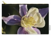 Purple And Cream Columbine Flower Carry-all Pouch