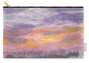 Purple And Gold November Sunset In West Michiganwatercolor Carry-all Pouch