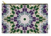 Purple And Green Patchwork Art Carry-all Pouch