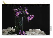 Purple And Lace Carry-all Pouch by Diana Angstadt