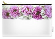 purple and mauve Flower frame on white  Carry-all Pouch