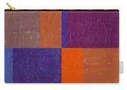Purple And Orange Get Married Carry-all Pouch by Michelle Calkins